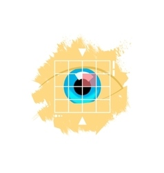Eye retina scan emblem vector image