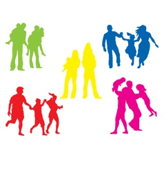 family vector image