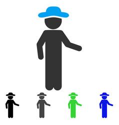 Gentleman invitation flat icon vector