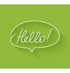 Hello Speech Bubble vector image vector image