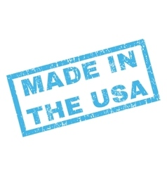 Made in the usa rubber stamp vector
