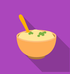 Mashed potatoes icon in flate style isolated on vector