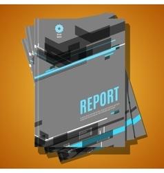 Modern Brochure Annual report Design Template vector image vector image