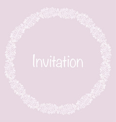 pale color tender rose floral invitation card vector image vector image