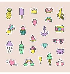Pop art fashion labels vector image