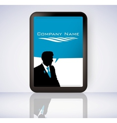 screen tablet computer vector image