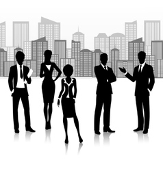 Silhouette business group vector image vector image
