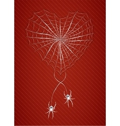 Spiders with heart vector image