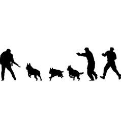Terrorist silhouette vector