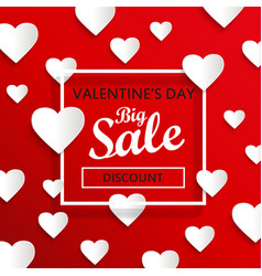 Valentines day big sale background vector