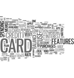 Which kind of credit card should i choose text vector