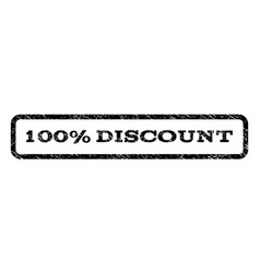 100 percent discount watermark stamp vector
