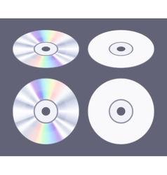 Isometric flat cd-dvd disk vector