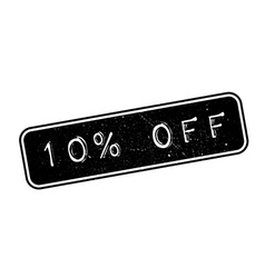 10 percent off rubber stamp vector