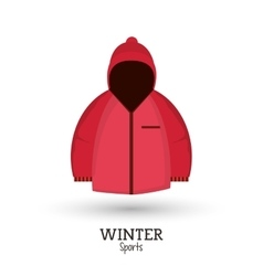 winter sport pink jacket clothes vector image