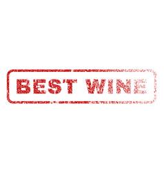 best wine rubber stamp vector image