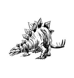Hand sketch of prehistoric animal vector
