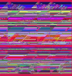 Colorful glitch art background vector
