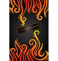 flames pattern vector image