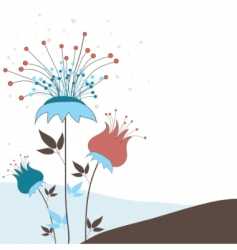Ound with flowers vector illustration vector