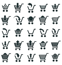 Shopping cart icons isolated on white background vector image