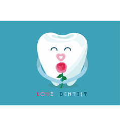 Love dentist from tooth vector