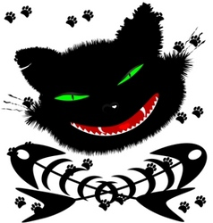 Black cat vector