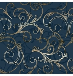 Abstract vintage seamless damask pattern vector