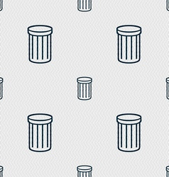 Recycle bin sign icon symbol seamless abstract vector