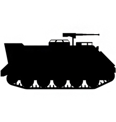 armoured personnel carrier silhouette vector image