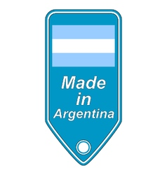 Made in argentina icon vector