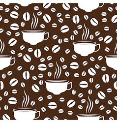 Coffee cap pattern brown vector