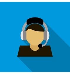 Customer service operator icon flat style vector