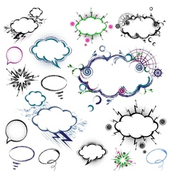 Collection of comic style speech bubbles vector image