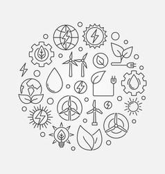 alternative energy circular vector image vector image