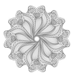 beautiful deco monochrome contour mandala vector image