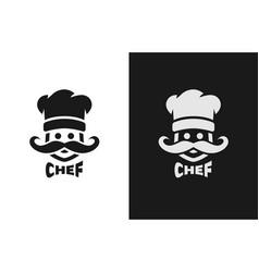 Chief monochrome logo two versions vector