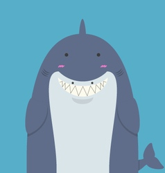 cute big fat shark vector image vector image