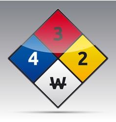 Danger diamond sign vector image