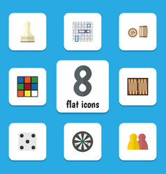 flat icon entertainment set of sea fight dice vector image vector image