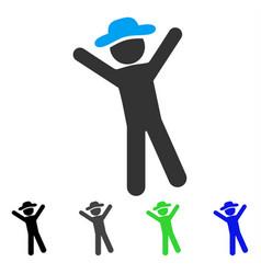 Gentleman joy flat icon vector