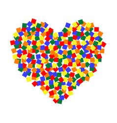 Heart lgbt color pixel art lgbt community vector