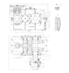Hi-tech engineering drawing vector