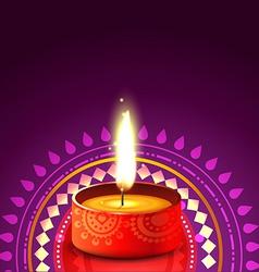 hindu festival background of diwali vector image vector image