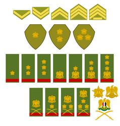 Insignia syrian army vector