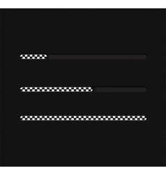 Llustration with loading bar vector