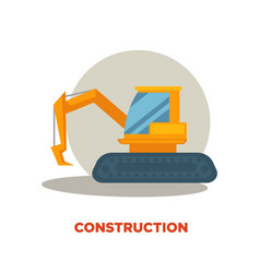 Modern construction technologies promotion banner vector