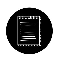 Notebook paper document icon vector