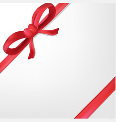 red ribbon white background gift vector image vector image