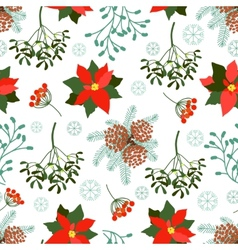 seamless Christmas patterns set vector image vector image